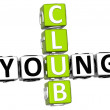 3D Young Club Crossword — Stock Photo