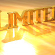 3D Limited Gold Text — Stock Photo #10734451