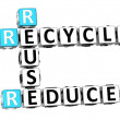 Stock Photo: 3D Reduce Reuse Recycle Crossword