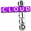 3D Cloud Build Crossword — 图库照片