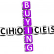 3D Buying Choices Crossword — Stock Photo