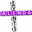 3D Callendar Events Crossword — Stock Photo