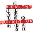 3D Nutrition Health Diet Crossword — Stock Photo