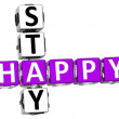 3D Happy Stay Crossword — Stock Photo