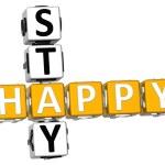 3D Happy Stay Crossword — Stock Photo #8280168