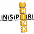 Stock Photo: 3D Think Inspire Crossword