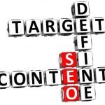 3D Define Target Content Crossword — Stock Photo #8327373