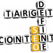 3D Define Target Content Crossword — Stock Photo