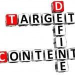 3D Define Target Content Crossword — Stock Photo
