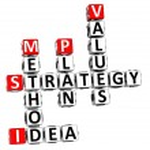 3D Career Strategy Crossword — Stock Photo #8327394
