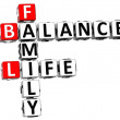 3D Balance Life Family Crossword — Stock Photo