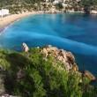 Beautiful small bay in Ibiza Spain — Stock Photo