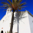 White church in Ibiza, Spain — Stock Photo