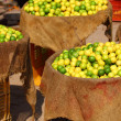 Lemons in local market in India. - Zdjęcie stockowe