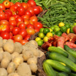 Various vegetables at vegetable market. India - Zdjęcie stockowe