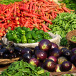 Various vegetables at vegetable market. India — Stock Photo #8798150