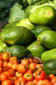 Various fruits at vegetable market. India — Stock Photo