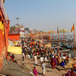 The Holy City of Varanasi and the Sacred River Ganges. - Stock Photo