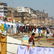 The Holy City of Varanasi and the Sacred River Ganges — Stock Photo