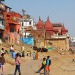 The Holy City of Varanasi and the Sacred River Ganges - Stock Photo