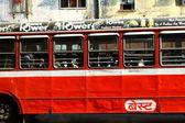 孟买红色巴士. — 图库照片