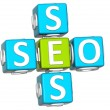 3D Seo Service Crossword text — Stock Photo #9446783