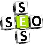 3D Seo Service Crossword text — Stock Photo