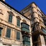 Traditional Maltese balcony, Valletta, Malta — Stock Photo #9686157