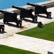Barrakka Gardens of saluting battery and Grand Harbor of Valletta, Malta — Stock Photo