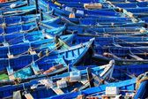 Blue boats, Essaouira, Morocco. HDR image — Stock Photo
