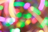 Bright colorful new year lights. Abstraction background — Stok fotoğraf