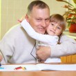 Grandfather and granddaughter — Stock Photo #8083920