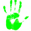 Green handprint — Stock Photo