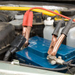 Loading the car battery - Stock Photo
