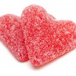 Stock Photo: Two heart-shaped candies