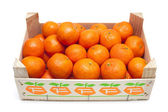 Mandarins in box — Stock Photo