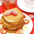 Royalty-Free Stock Photo: Yummy buttermilk pancakes