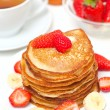 Yummy buttermilk pancakes — Stock Photo