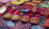 Rows of colorful shoes — Stock Photo