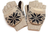 Pair of warm knitted gloves — Stock Photo