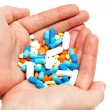 Hand with pills — Stock Photo #9781957