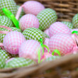 Easter eggs in basket — 图库照片 #9782568