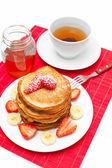 Golden buttermilk pancakes — Stock Photo