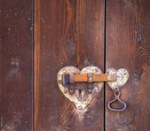 Heart shaped door lock — Stock Photo