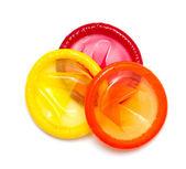 Färgglada kondomer — Stockfoto