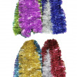 Bright colored christmas tinsel — Stock Photo