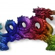 Chinese ornamental dragon - Stock Photo