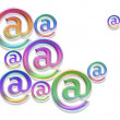 Colorful e mail signs - Stock Photo
