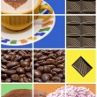 Stock Photo: Coffee, donuts and Chocolate