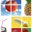 Graphic fruit montage - Stock Photo